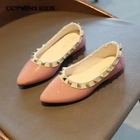 girls flats 2021 spring kids fashion stud shoes children mary jane baby brand party shoes toddlers princess shoes py mj 066