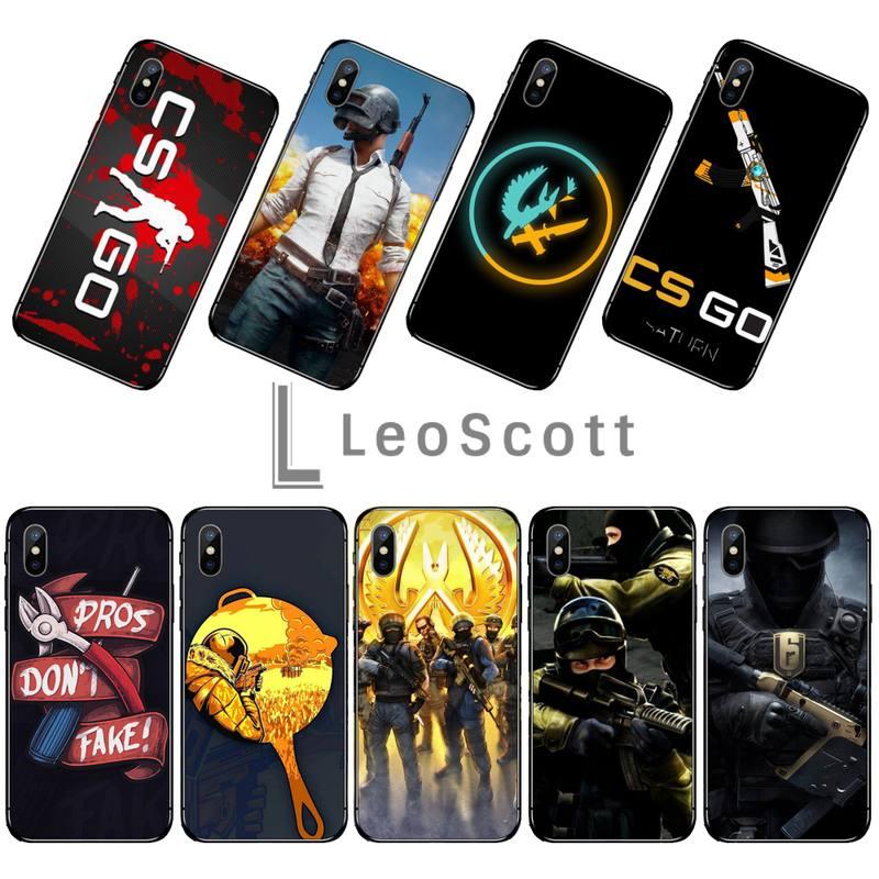 Counter Strike CS ir cubierta negro suave de la caja del teléfono de la cáscara del teléfono para iphone 5 5s 5c se 6 6s 7 8 plus x xs x xr 11 pro max