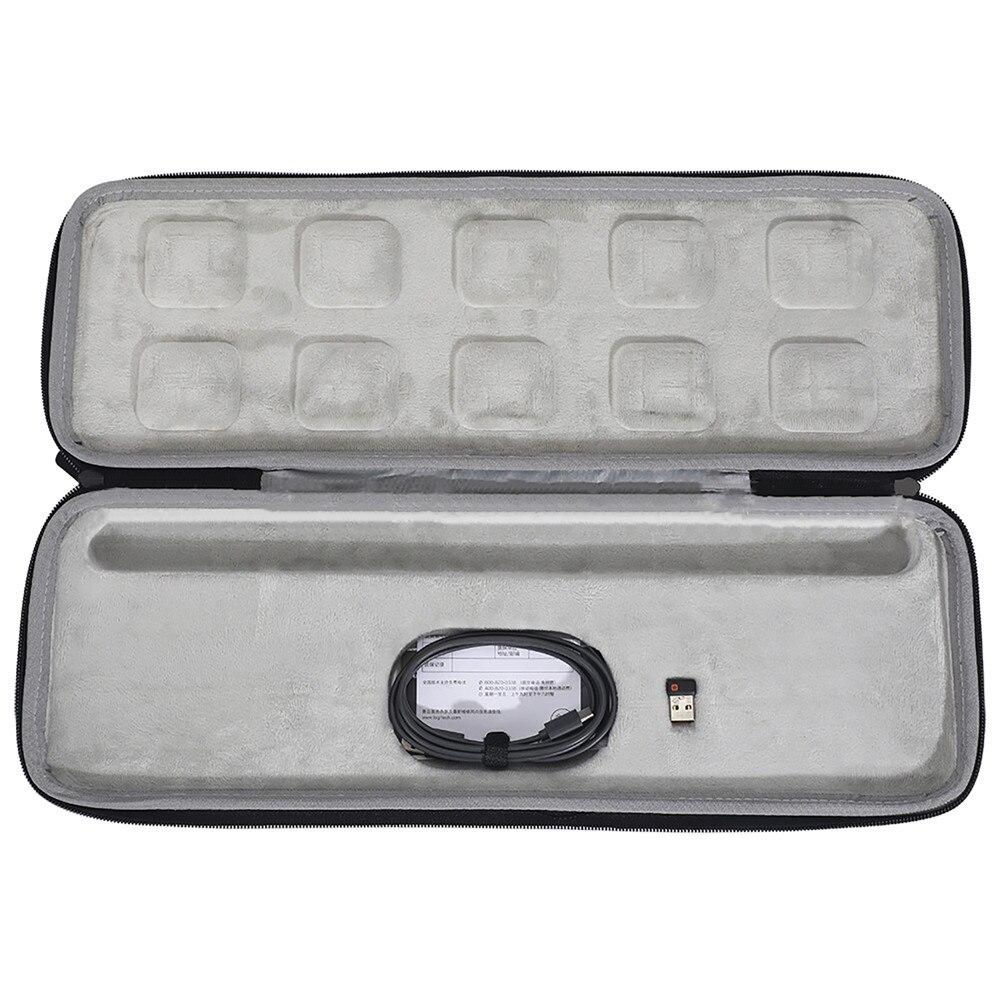 Pour Logitech MX clés avancées sans fil illuminé clavier sac de rangement EVA étui rigide Portable pochette