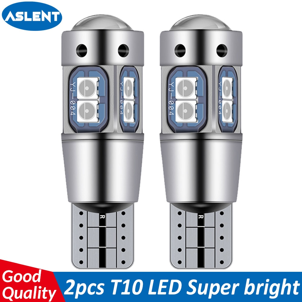 ASLENT High Quality T10 W5W 168 192 Led Tail Light 3030 10smd 12V for Car Led Auto Lamp CANBUS NO Error Car Marker Parking Bulb