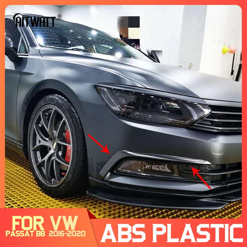 Pour Volkswagen Passat B8 Variant Arteon 2016-2020 argent noir extérieur phare sourcil capots de bordure avant lumière cadres de lampe