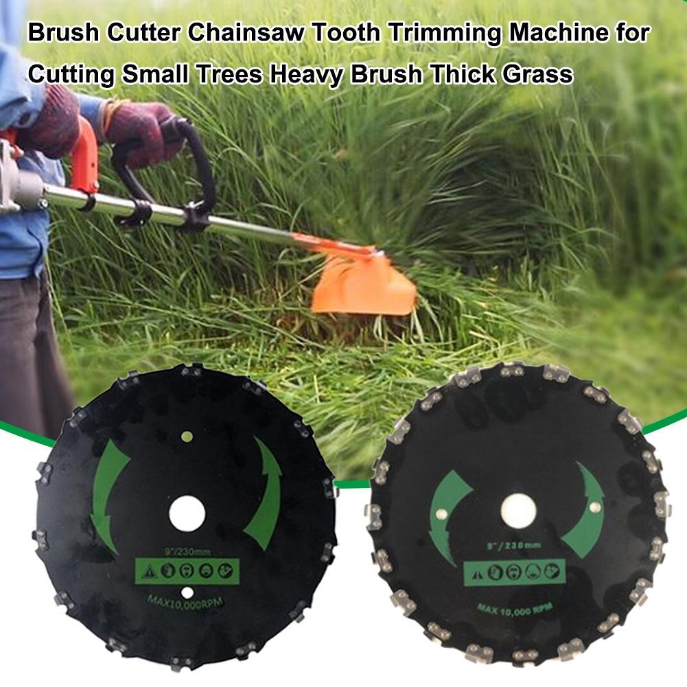 Cortador de grama trimmer cabeça bobina correntes brushcutter motosserra dente aparamento escova cortador máquina para cortar escova pesada grama grossa