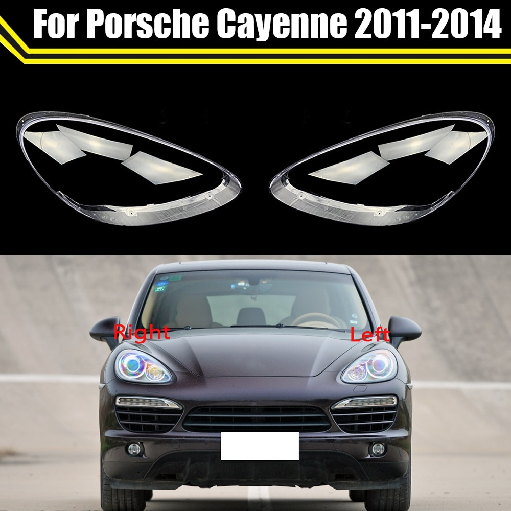 Car Front Headlamp Caps For Porsche Cayenne 2011 2012 2013 2014 Glass Headlight Cover Auto Transparent Lampshade Lamp Lens Shell