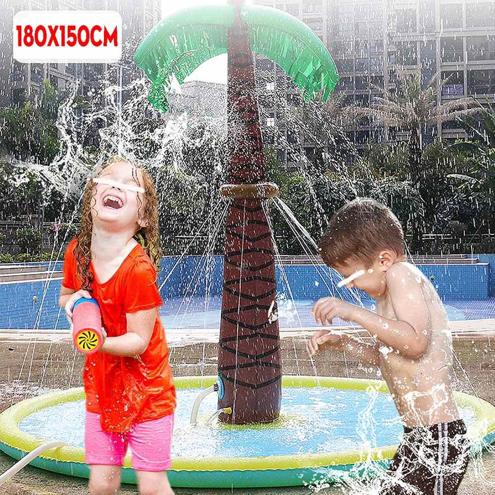 180 سنتيمتر الأطفال الكبار حوض سباحة قابل للنفخ نفخ رذاذ الماء وسادة حصيرة نفخ حوض السباحة في الهواء الطلق نفخ السباحة بركة