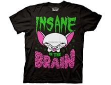 Moda masculina t camisa ripple junção animaniacs insana no cérebro t camisa masculina verão t camisa