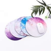 2021 new planet silicone gel mouse pad non slip circular gaming games pvc laptop office supplies