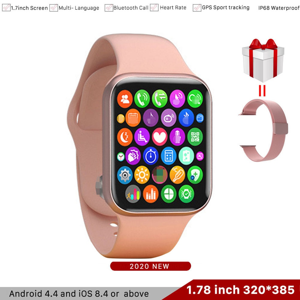 "Reloj inteligente IWO 15/K8 1,78 ""HD 320*385 pantalla reloj Serie 6 rastreador deportivo de ritmo cardíaco Smartwatch para Android ios PK IWO 12 13"