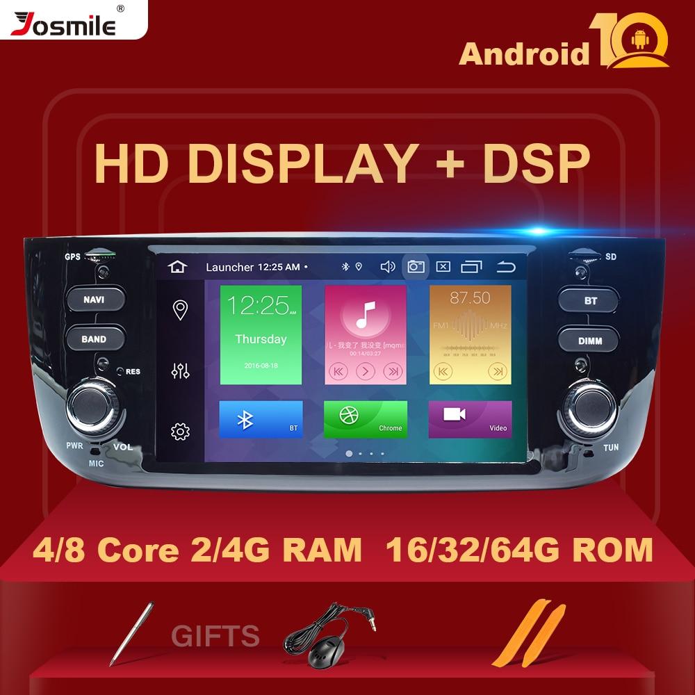 DSP 4GB 64GB Autoradio 1 Din Android coche DVD reproductor Multimedia para Fiat/Linea/Punto evo 2012-2015 GPS navegador estéreo IPS