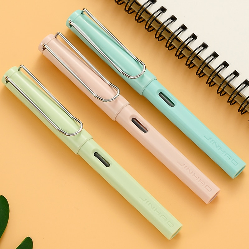 Фото - 2pcs/pack Jinhao Fountain Pen Cute Macaron Posture Correction Ink Pens for Student School Office Supplies Writing Stationery rescue ink rescue ink