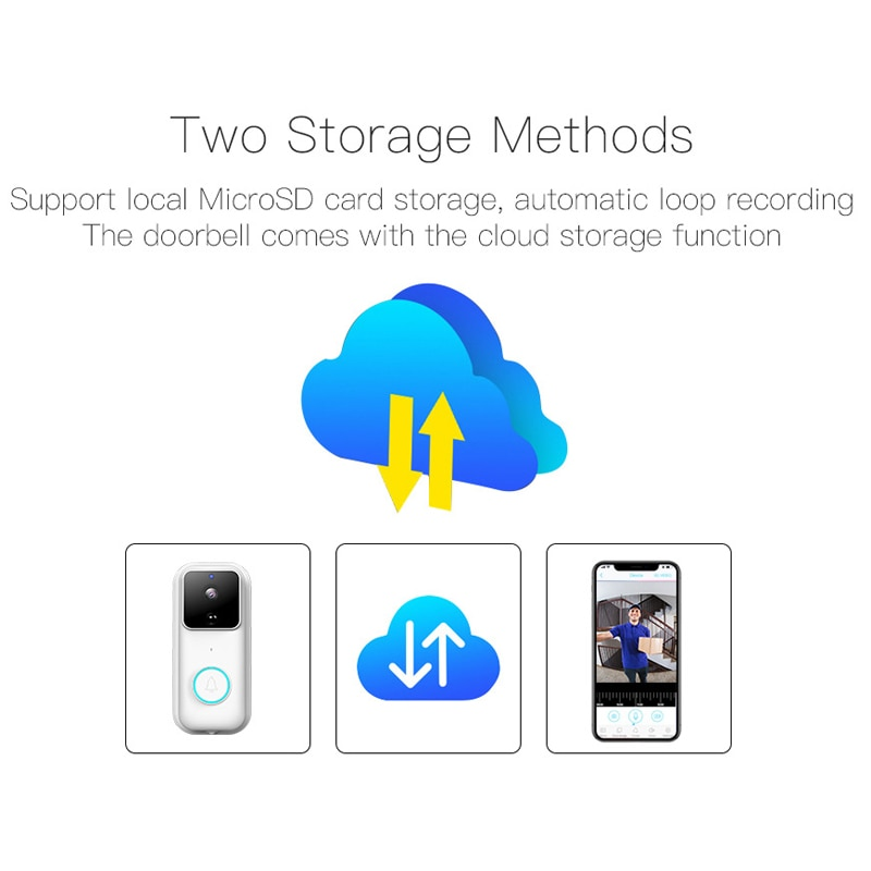 Ymesy Smart Home Wireless Phone Door Bell Camera Security Video Intercom 1808P HD IR Night Vision WIFI Doorbell For Apartments enlarge