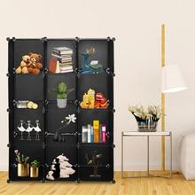 12 Cube Shelf Storage Cabinet Buckle Connectors Cube DIY Modular Closet Organizer Wardrobe Rack Clothes Shelf Storage Cabinet