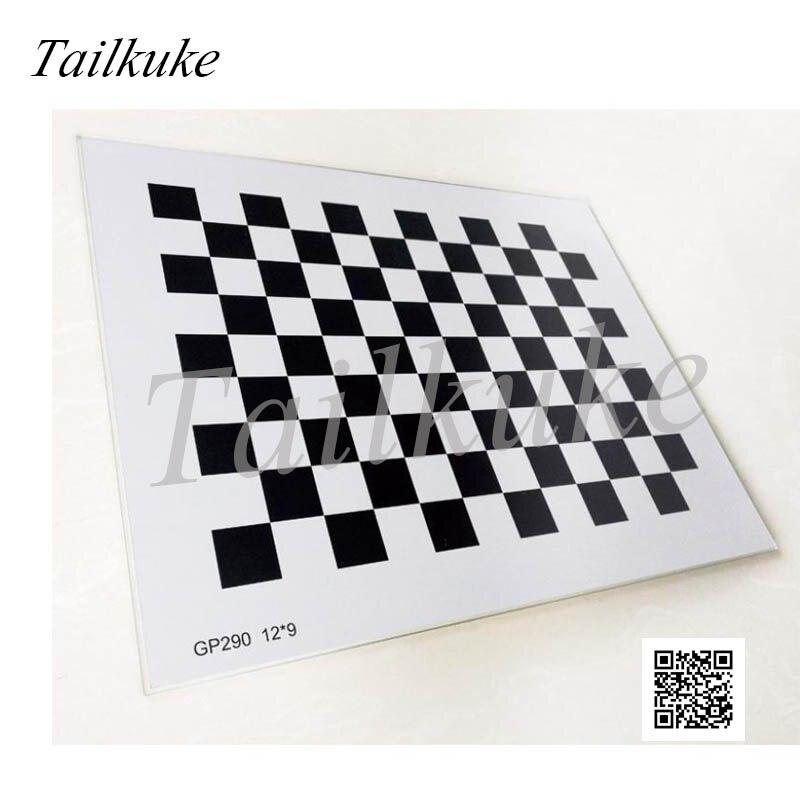 Placa de calibración de alúmina Checkerboard, matriz cuadrada de opacidad de reflexión difusa, placa correctora Óptica Visual de verificación de 12*9mm