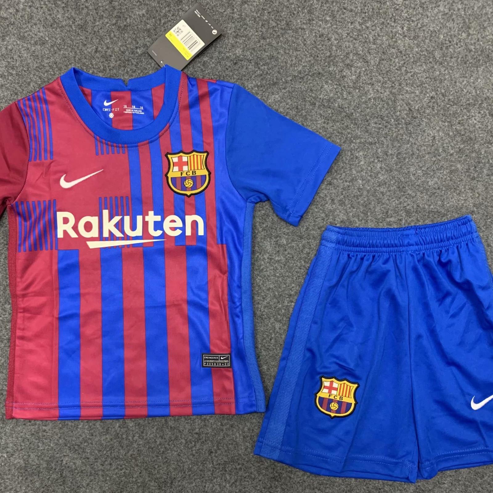 2122 última Barca Barcelona fútbol conjunto chico Kit de juventud jersey de...