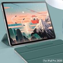 Pour iPad Pro 12.9 4th génération 2020 2018 étui sécurisé magnétique étui intelligent pour iPad Pro 11 2020 2018 couverture avec porte-crayon
