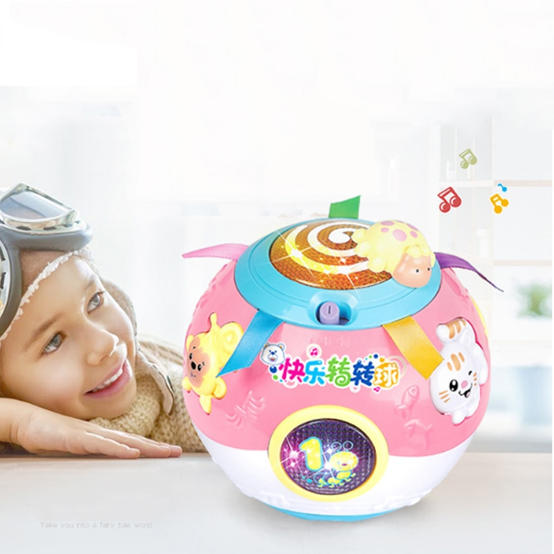 Baby Toys Turn Ball Musical Toys 13-24 Months Electronic Musical Ball Toys Soft Early Educational Toys For Children Kids