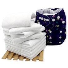 Couches lavables en tissu microfibre   Inserts de couches 5 pièces, 3 couches, couches lavables, couches en tissu de poche réutilisables, Inserts de couches pour bébé