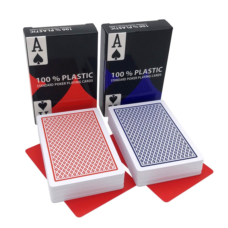 Hot 2 Pcs/Lot Bridge Poker Baccarat Texas Hold'em Waterproof Wear-resistant Plastic Playing Cards Board Game Poker Cards 58*88mm rye morrison counting cards in texas hold em poker
