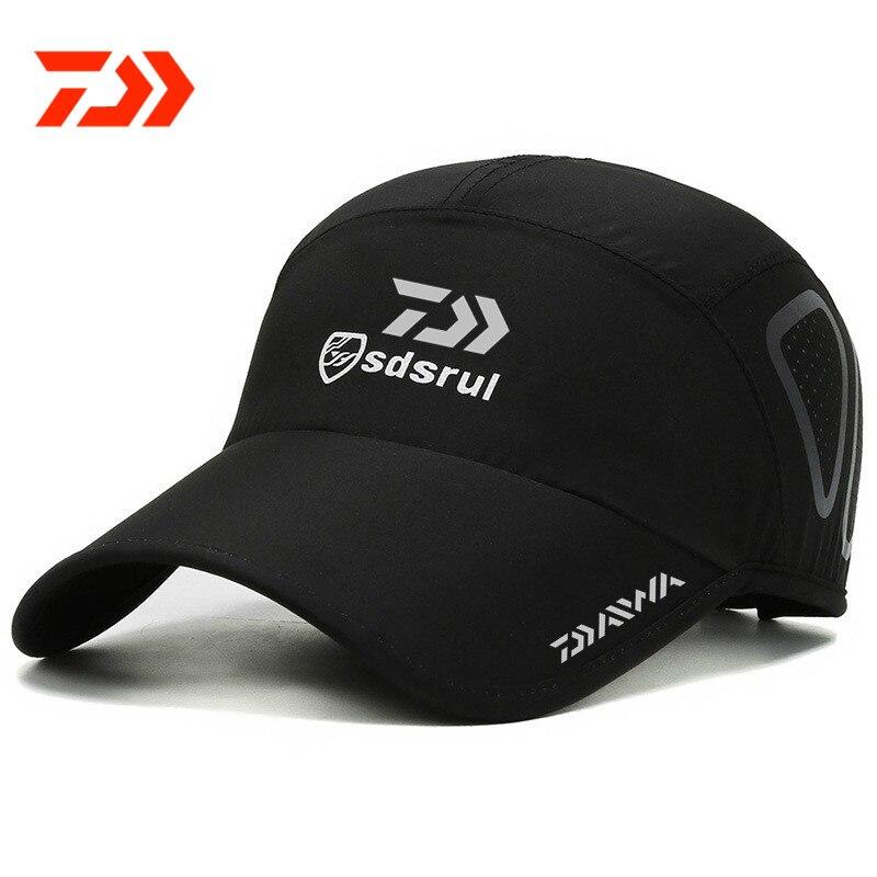 Daiwa Sun Protection Sunbonnet Baseball Cap Mesh Breathable Quick-Dry Fishing Cap Trendy Letters Casquette Men for Women Hat