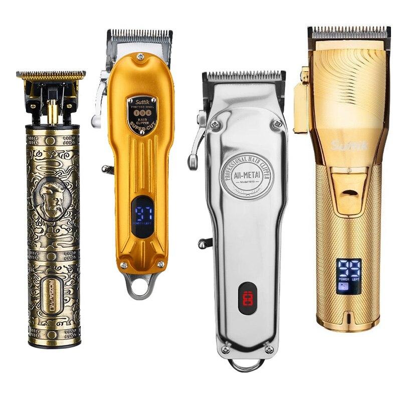 Máquina de Cortar Aparador de Cabelo para Homens sem Fio Máquina de Corte de Cabelo Nova Cabelo Profissional Barbeiro Loja Cortador Elétrico Aparador Barba 2022