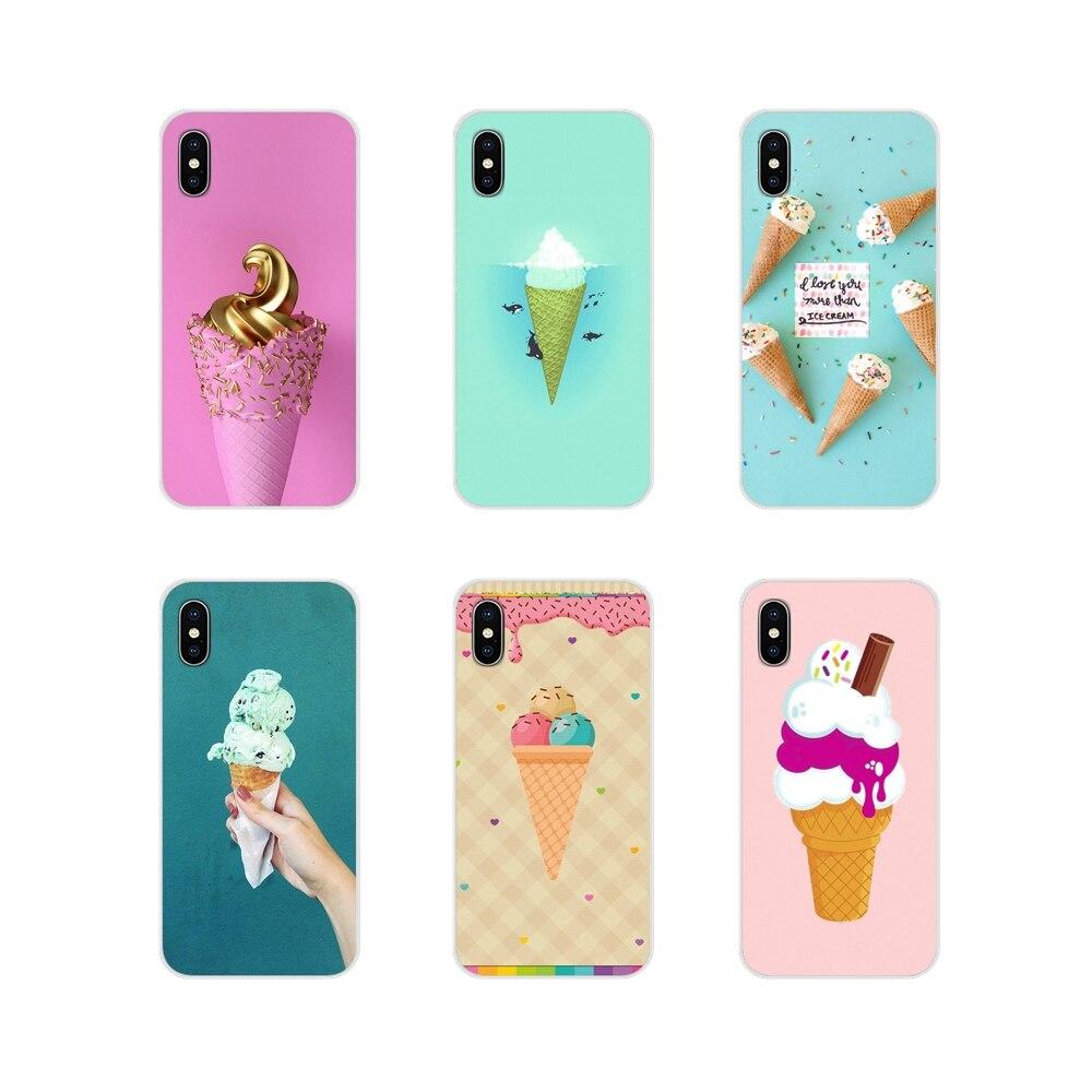 Ice Cream Cone Sweets Shell Silicone Case Covers For Huawei G7 G8 P7 P8 P9 P10 P20 P30 Lite Mini Pro P Smart Plus 2017 2018 2019