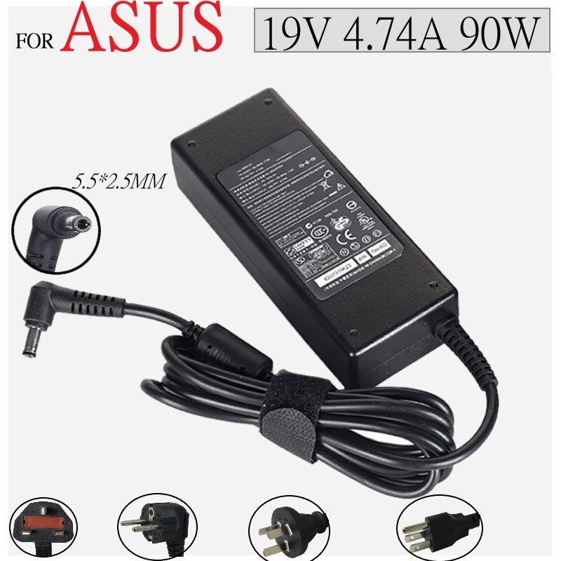 19V 4.74A AC Power Supply Notebook Adapter Charger For ASUS Laptop A46C X43B A8J K52 U1 U3 S5 W3 W7