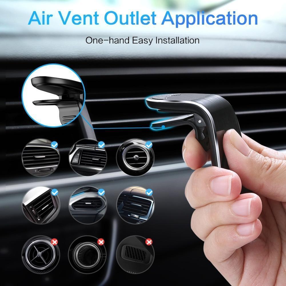 Новинка, автомобильный держатель, креативный автомобильный магнитный держатель для воздуховыпускного отверстия, автомобильный металличе...