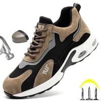 men shoes working security sneaker with metal toe casual breathable lightweight boots cushioning pu outsole sport shoes new 2021
