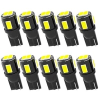 10x t10 w5w new super bright led car parking lights wy5w 168 501 2825 auto wedge turn side bulbs car interior reading dome lamp