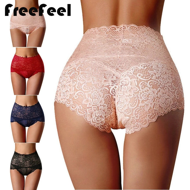 Women Panties Sexy Lace Underwear Woman Knickers Lace Panties Mesh Floral Lingerie Female Seamless Briefs Underpants Plus Size l bellagiovanna girl s boyshorts panties small sizes female floral underwear briefs sexy lace calcinha lovely underpants 818