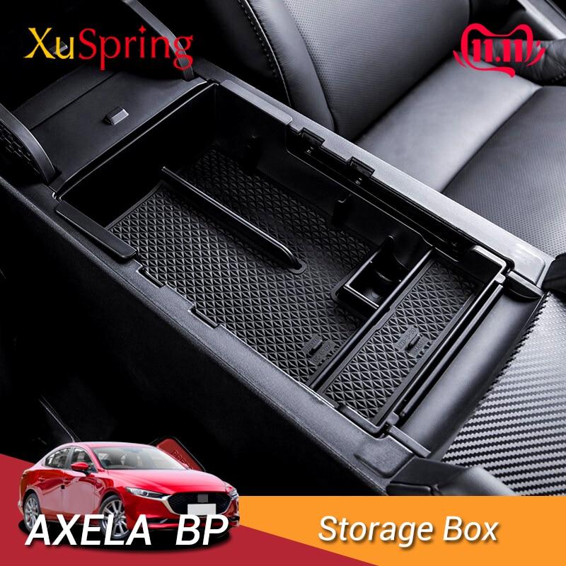 Guantera de almacenamiento de reposabrazos para Mazda 3 4ª 2019 2020, organizador de apoyabrazos, bandeja central, almacenamiento secundario Interior de accesorios de coche