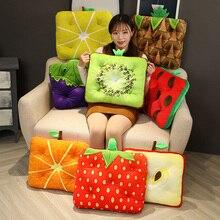 3D Simulation Stuffed Toy Cartoon Fruits Pillow Sofa Cushion Kiwi strawberry apple Grape lemon Plush Toy Creative Home Decor
