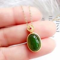 vintage luxury green jade emerald gemstones zircon diamonds pendant necklaces rings for women 18k gold color jewelry sets gifts