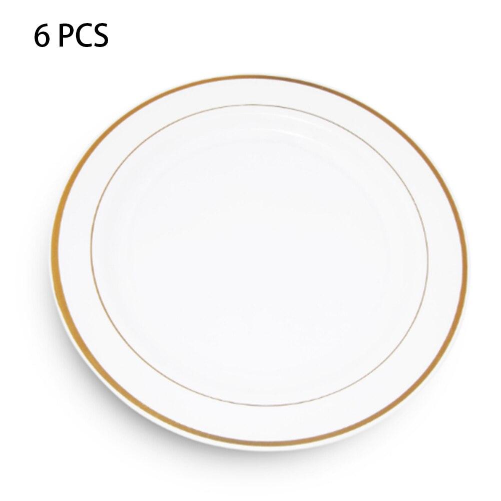 Vajilla de cerámica de imitación 6 uds., plato de cocina de vacaciones, plato cargador nórdico, fruta, ensalada, postre para fiesta de boda, Casa Redonda
