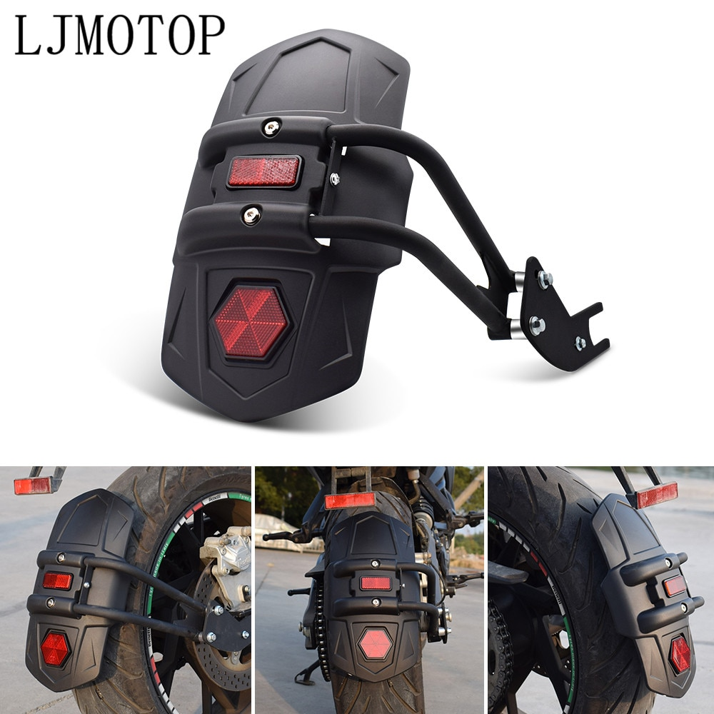 For yamaha xt 600 mt10 mt 09 tracer suzuki drz/ltz 400 600 Motorcycle Fender Rear Wheel Cover Splash Guard Mudguard And Bracket