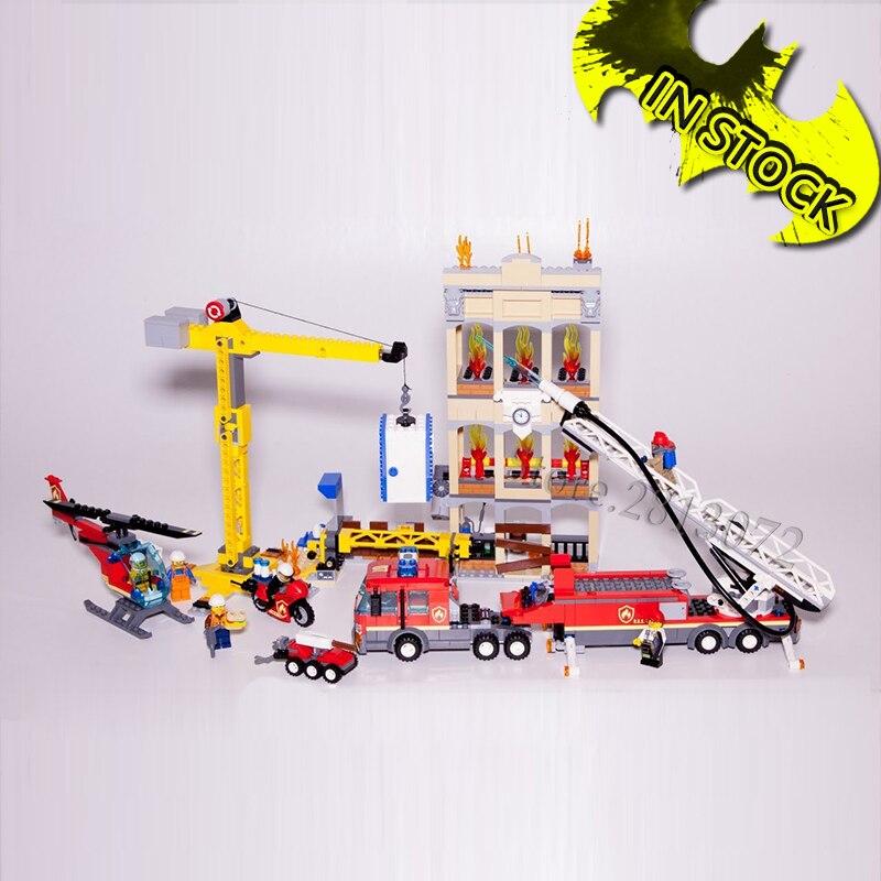El Centro de bomberos en stock 11216 nuevo series de la ciudad 985 Uds 60216 Compatible 02120 bloques de construcción educativos ladrillos juguetes de los niños