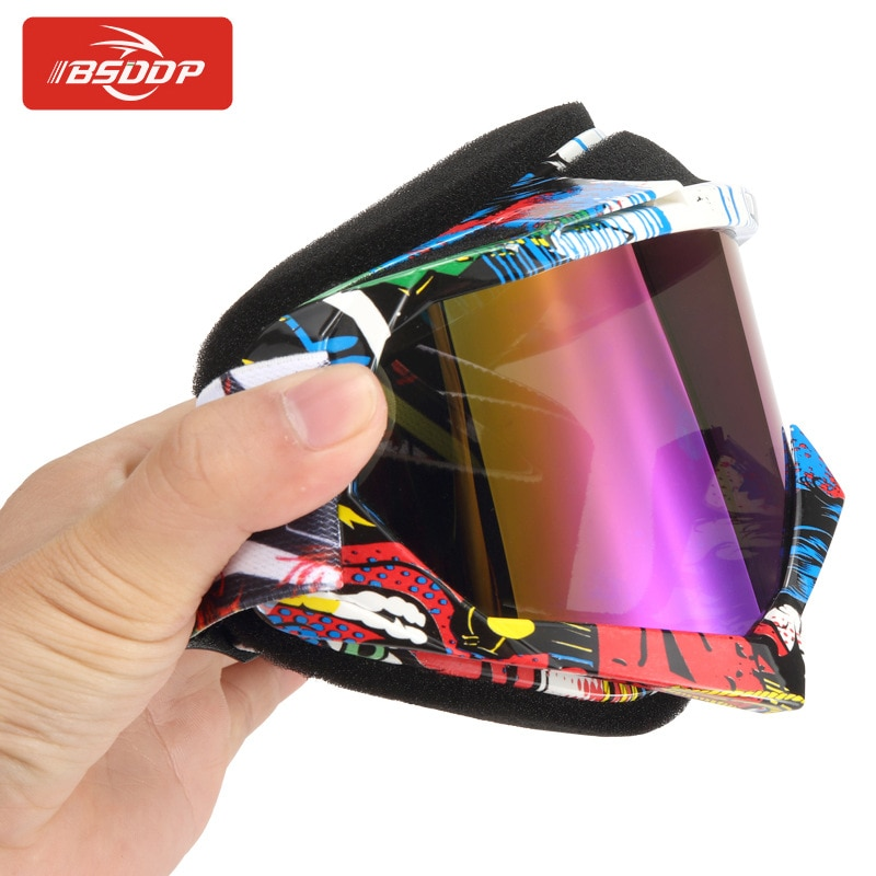 BSDDP Motorcycle Goggles Elastic Band Ventilated Soft Shell High Definition Cross Country Ski Men Women Snow Motocross Glasses enlarge