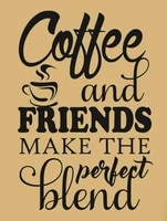 coffee and friends retro metal signplaque wall vintage gift
