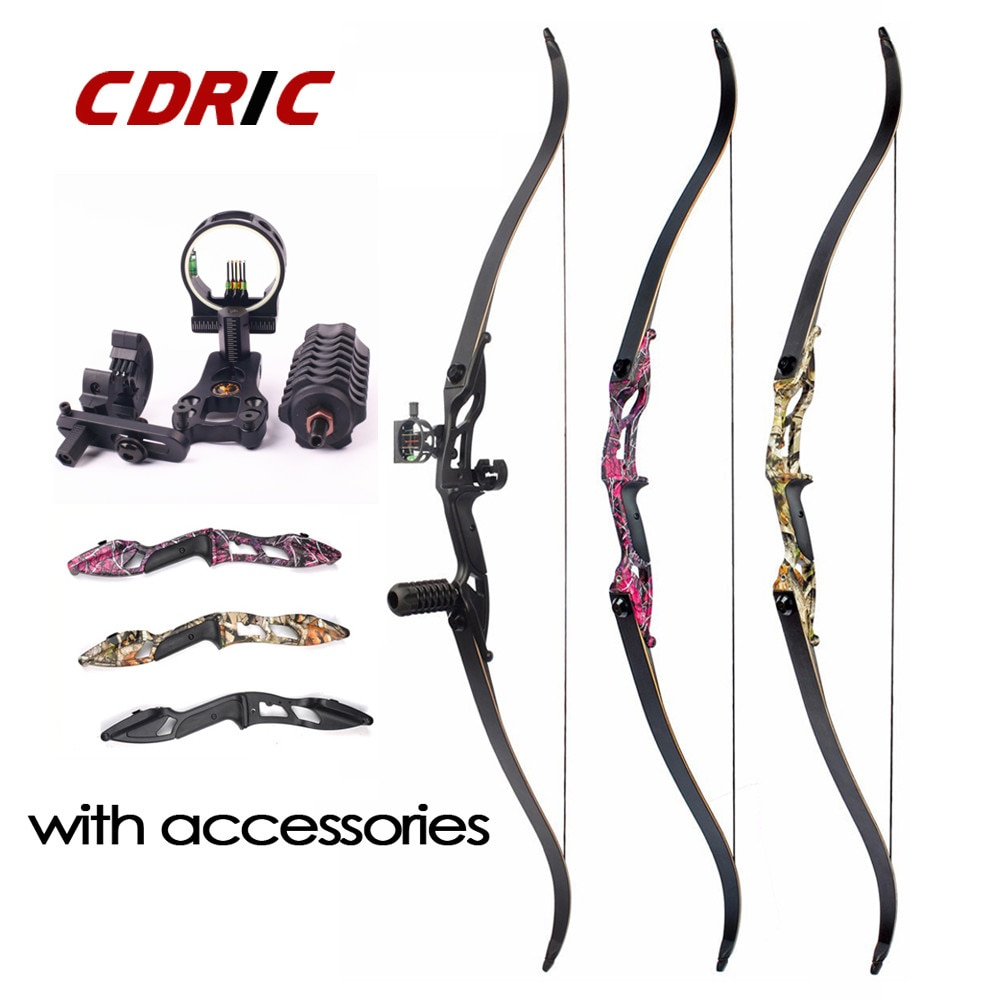 25archery recurve bow handle takedown bow grip ilf general purpose interface competition hunting shooting training long bow 3 Color 30-50lbs F179 Recurve Bow 56 American Hunting Split Bow With DIY Accessories for Outdoor Hunting Shooting Novice Use