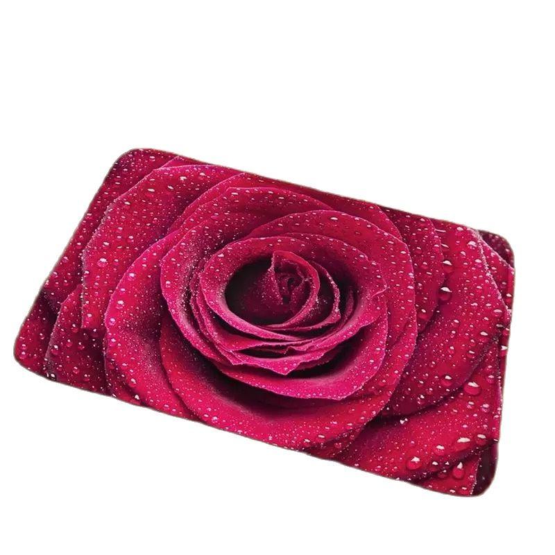 ثلاثية الأبعاد مدخل غرفة نوم ارتفع حصيرة الطازجة زهر الورد السجاد 50x80 سنتيمتر سجادة باب زهرة عدم الانزلاق
