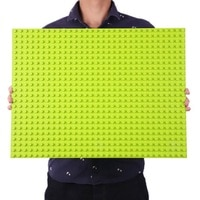Базовая пластина Duploed, Большие базовые строительные блоки 16*32 точки 51*25,5 см, совместимая с Duploed, игрушки-животные, большая Фирменная Базовая п...