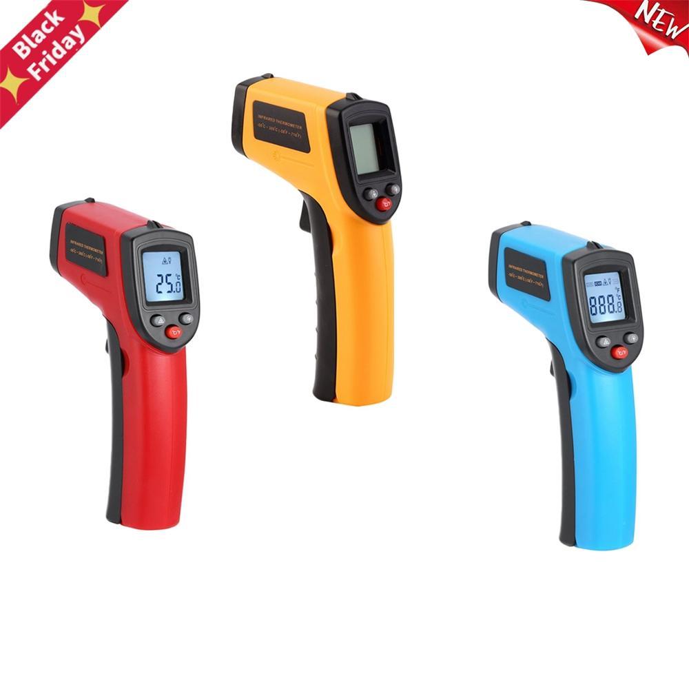 Medidor de Temperatura Termômetro Infravermelho Contato Pirômetro ir Laser Arma-50 3380c Não