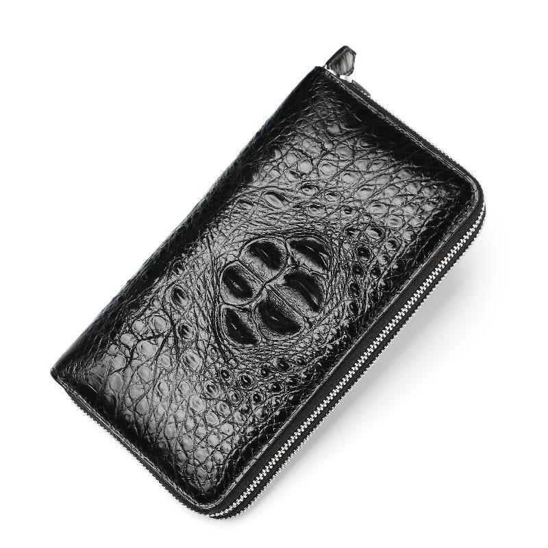 Large capacity double Lado Card Leather Wallet men's 100% Crocodile Leather alligator WALLET business handbag men's Long Wallet