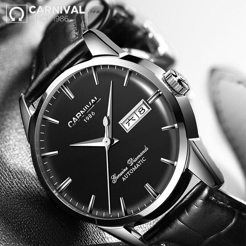 Reloj Hombre CARNIVAL Brand Mechanical Watches Men Luxury Waterproof Fashion Dress Automatic Wrist Watch 2021 Relogio Masculino enlarge