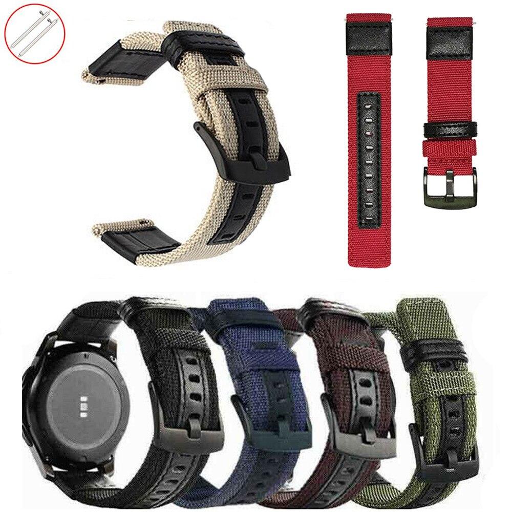 20 мм 22 мм армейский зеленый нейлоновый ремешок для Samsung Galaxy Watch Active 3 42 мм 46 мм Gear S2 S3 Amazfit GTR Huawei GT 2 Мужской сменный ремешок