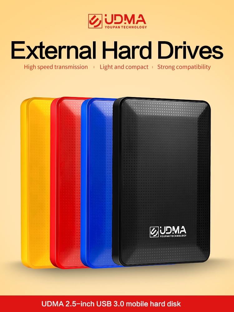 "UDMA 2,5 ""USB3.0 portátil Disco duro externo Disque dur externa para PC Mac Tablet Xbox PS4 TV caja"