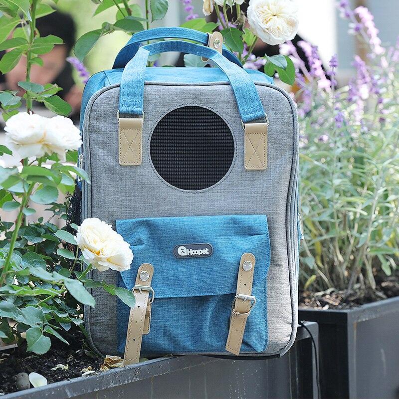 Mochila para perro y gato, ventana de perro para exterior, bolso de viaje, bolso respirable para perros, bolsa de transporte, Gatos, Chat de transporte, AC50CB