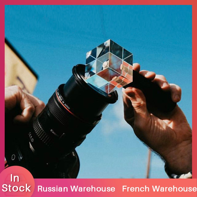 Photograph Crystal Light Crystal Halo Optical Glass Lens 1/4 Screw for Mini Tripod Holding VLOG Magic Ball Light Accessory