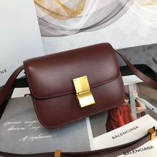 France 2021 new mirror super luxury imported cowhide BOX tofu bag female small square bag stewardess