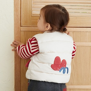 Girl Baby Cute Flower Cartoon Cardigan Hoodless Winter Cotton Vest 2020 New Trend Full Casual Thickened Children's Clothing