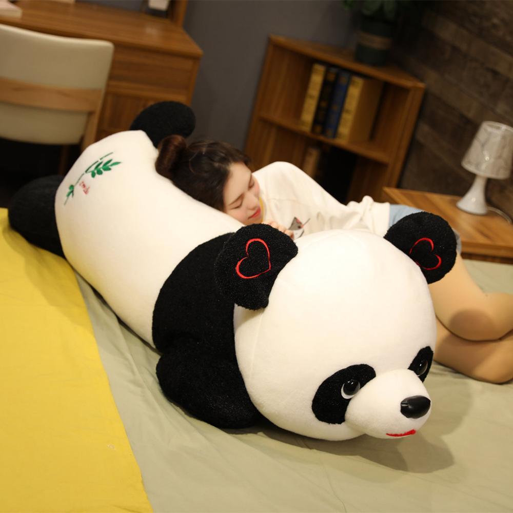 80/100cm lindo bebé Panda grande oso de peluche animal relleno muñeca de dibujos animados juguetes de peluche almohada muñecas Kawaii niñas amantes regalos de navidad